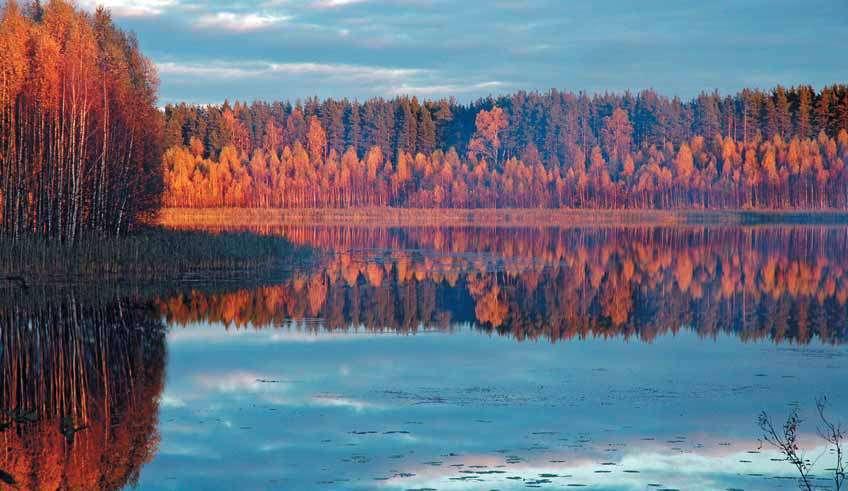 Картинки осени на реках и озерах